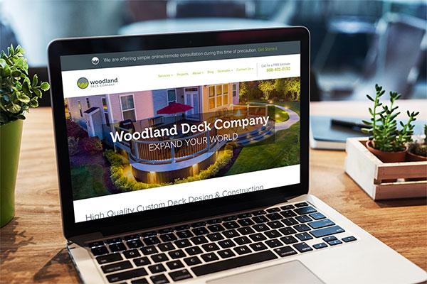 deck builder marketing website