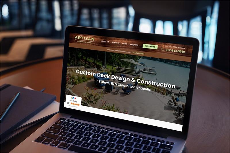 deck builder website design