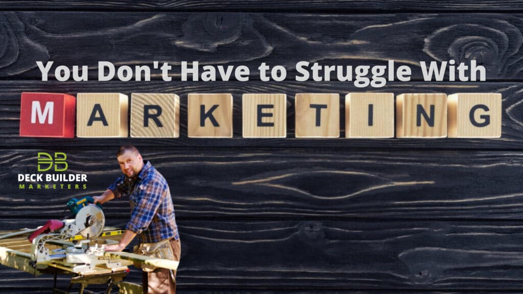 photo illustration to go with story about deck builders struggling with marketing